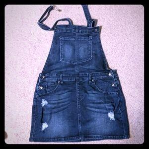 Overalls miniskirt